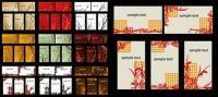 Plantillas de tarjetas de patrón de moda
