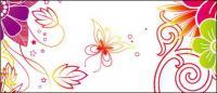 Borboleta flor moda fundo