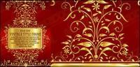 Patrón de encaje oro Gorgeous