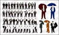 Tindakan bahan berbagai bisnis pria vektor