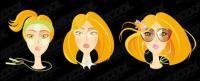 ファッション女性頭のベクター素材