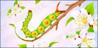 Blumen und Insekten Vektor-material