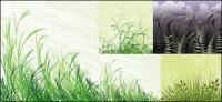 草材料ベクトル