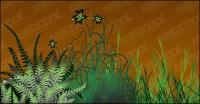flores de vectores de material