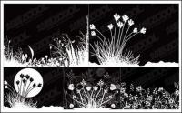 flores e vetor em preto e branco