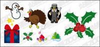 Icono de Navidad con el material de ilustración vectorial