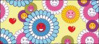 Schöne Blumen Ausdruck Vektor-Hintergrund-material