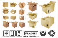 Material de cartón de vectores