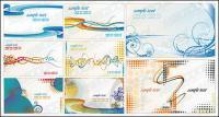 Líneas simples del tema de la plantilla de tarjeta de material de vectores
