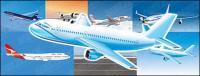 民間旅客機のベクター素材