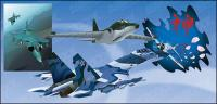 戦闘機のベクター素材