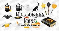 Halloween icono material de vectores