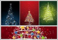 点滅のクリスマス ツリーのベクター素材