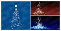 Флэш-материал дерево векторные рождественские