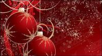 赤のクリスマスのデコレーション ボール素材のベクトル