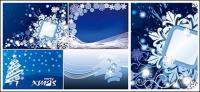 คริสต์มาส snowflakes vector วัสดุพื้นหลัง