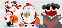 matériau de vecteur de Santa Claus Lovely