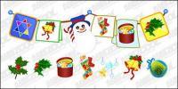 Les décorations de Noël pratiques de conception vecteur matériel