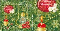 ضوء الشموع عيد الميلاد زخرفة نمط مكافحة ناقلات المواد