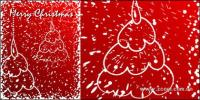 Snow graffiti-style Christmas tree vector material