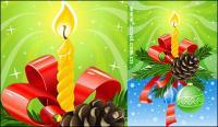 Magnifiquement décorée de matériau de vecteur de Noël