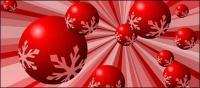 Matériau de neige Red ball vecteur