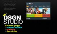 Diseñador de página personal flash site-wide material de plantilla