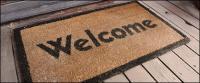 Material de imagen de la alfombra bienvenida
