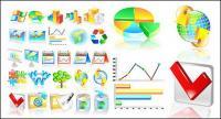 Финансовая статистика категории значок вектор материал