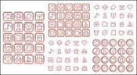 Простой пиксель векторной графики материал-1