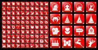 Простой красный материал Вектор Икона Рождества