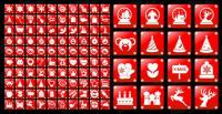 Bahan vektor sederhana merah Natal ikon