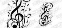 Matériau de notes de musique