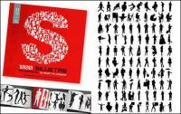 album de 1000 divers silhouette vecteur matériel-5