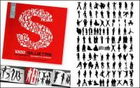Álbum de 1000 diversos silhouette vector material-4