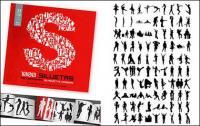 альбом 1000 различных силуэт векторный материал-3
