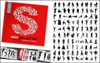 1000 album various silhouette vector material-2