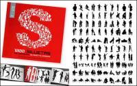1000 एल्बम विभिन्न silhouette वेक्टर सामग्री-1
