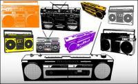 다양 한 라디오 벡터 소재