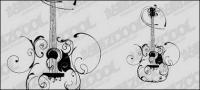 Gitarre-Muster-Vektor-material