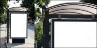 Abris billboard matériel de modèle vide image