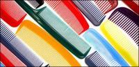 Material de imagen de fondo multicolor de peine