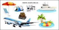 Туризм путешествия значок векторного материала