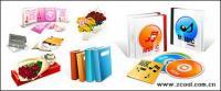 Libros, como Ramos de materiales de vector de icono de CD-ROM