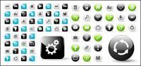 Web2.0 веб-дизайна раунд с материалом вектора значок квадратный значок
