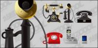 古いものと新しい電話のベクター素材