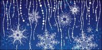 Material de apoio especial vector snowflakes