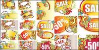 Discount sales trend vector material