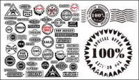 Почтовый штемпель и печати, такие как несколько векторных материалов