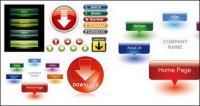 Привлекательный веб дизайн кнопку значок векторного материала
